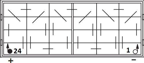 Электрические схемы соединения батареи